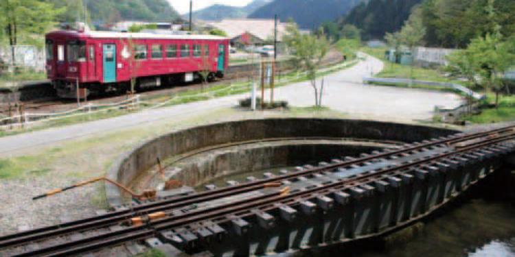 長瀧白山神社参拝と 北濃駅転車台回転体験