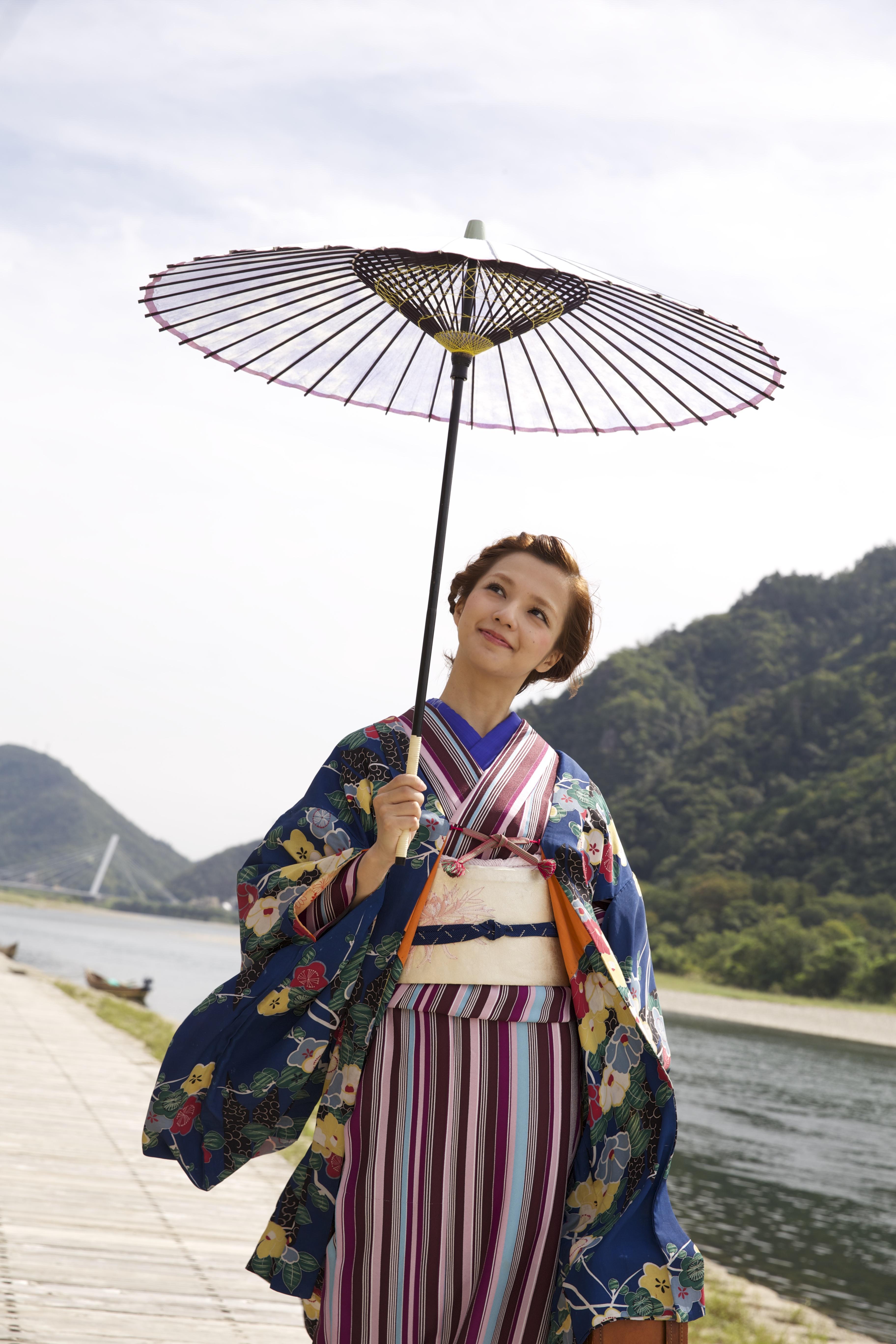 和傘(wagasa)岐阜、着物、女の子