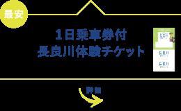 1日乗車券付長良川体験チケット JR岐阜駅から80分