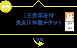 1日乗車券付長良川体験チケット JR岐阜駅から60分