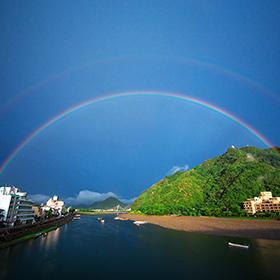 長良川に架かる虹の架け橋